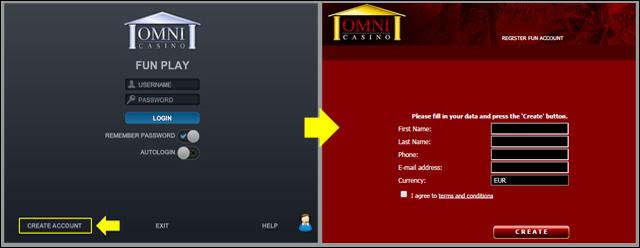 フラッシュ無料プレイ登録画面